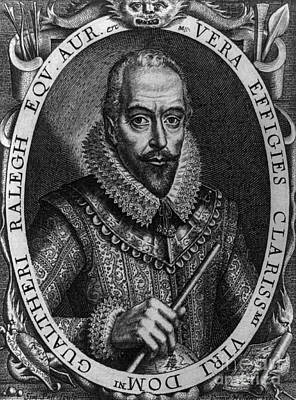 Walter Raleigh, English Courtier Art Print by Photo Researchers