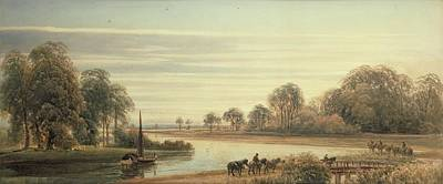 River Scenes Painting - Walton On Thames by Peter de Wint