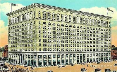 Philadelphia Pa Painting - Wanamaker's Department Store In Philadelphia Pa 1910 by Dwight Goss