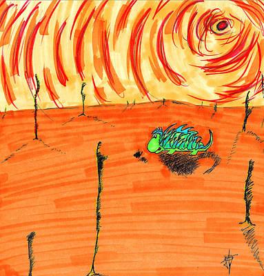 Drawing - Wandering Pricklepal by Jera Sky