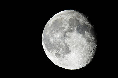 Astro Photograph - Waning Gibbous by Adam Pender