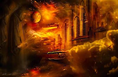 City Scene Digital Art - War And Death by Svetlana Sewell