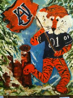 Aubie Painting - War Eagle by Teresa Wright