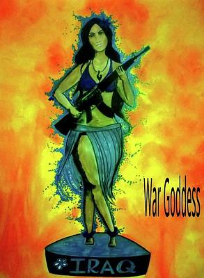 Mixed Media - War Goddess by Michelle Dallocchio