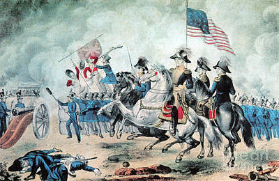 War Of 1812 Battle Of New Orleans 1815 Art Print by Photo Researchers