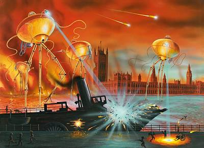 War Of The Worlds, Artwork Art Print