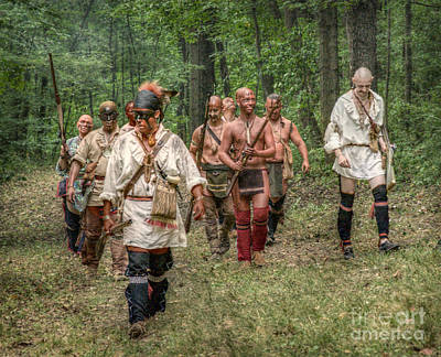 Shawnee Digital Art - War Party French And Indian War by Randy Steele