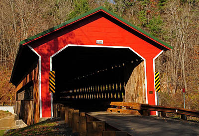 Wooden Ware Photograph - Ware Covered Bridge by Mike Martin