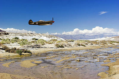 Photograph - Warhawk Over Salt Creek by Endre Balogh