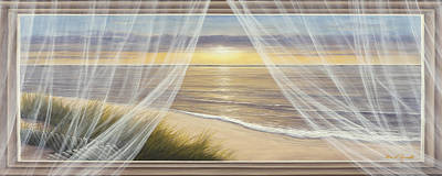 Warm Breeze Panoramic View Art Print