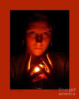 Art Print featuring the photograph Warm Candlelight by Patricia Overmoyer
