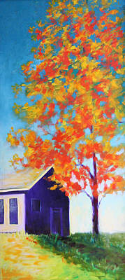Painting - Warm Day In Fall by Karin Eisermann