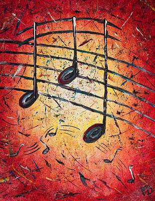 Warm Notes Art Print by Paul Bartoszek