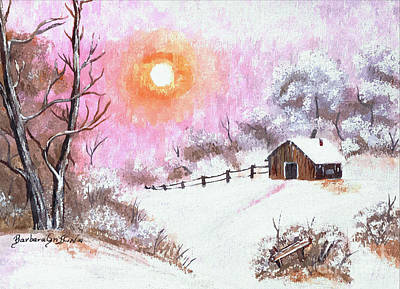 Snow Covered Ground Painting - Warm Winter In Watercolor by Barbara Griffin