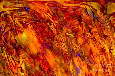 Warmth And Charm - Abstract Art Art Print