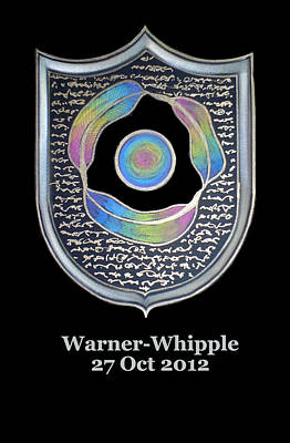 Painting - Warner-whipple Family Crest by Ahonu