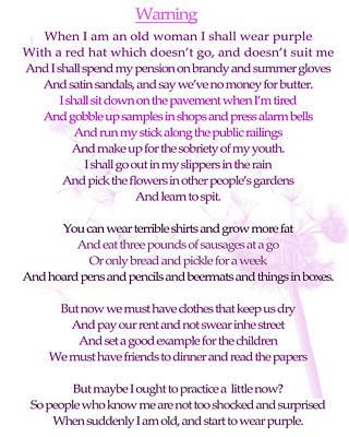 Warning Poem Art Print by Georgia Fowler