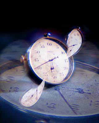 Digitally Manipulated Photograph - Warped Time, Conceptual Image by Richard Kail