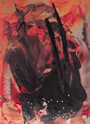 Encaustic Horse Painting - Warrior by Danita Cole
