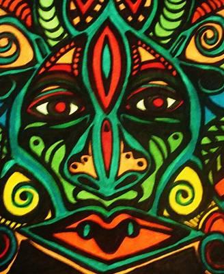 Warrior Mask Art Print
