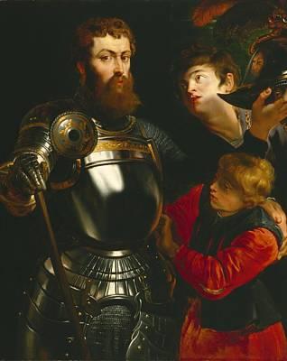 Warrior  Print by Peter Paul Rubens