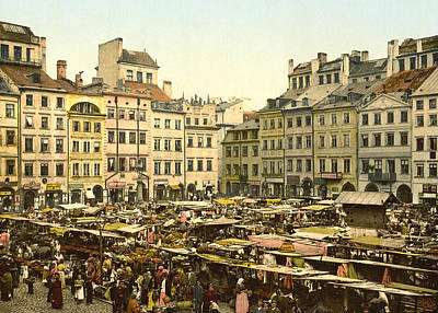 Warsaw Poland - Old Part Of Town Art Print by International  Images
