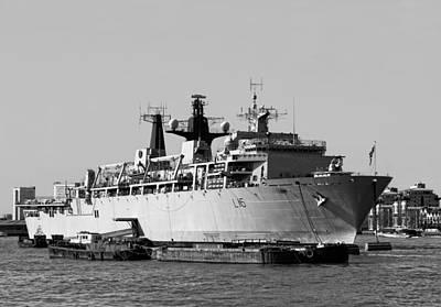 Warship Hms Bulwark Art Print by Jasna Buncic
