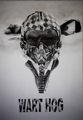 Drawing - Wart Hog by Lynn Hughes