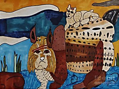 Wary Bobcat Art Print by Stephanie Ward