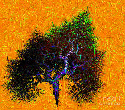 Was A Crooked Tree  Grunge Art Art Print