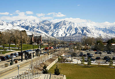Snowing Photograph - Wasatch Mountain Range by Marilyn Hunt