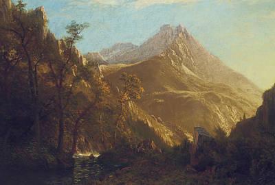 Wasatch Wall Art - Painting - Wasatch Mountains by Albert Bierstadt
