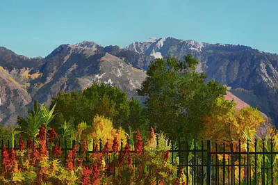 Wasatch Mountains In Autumn Painting Art Print