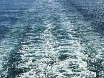 Wash Behind A Cross-channel Ferry Art Print by Adrian Bicker