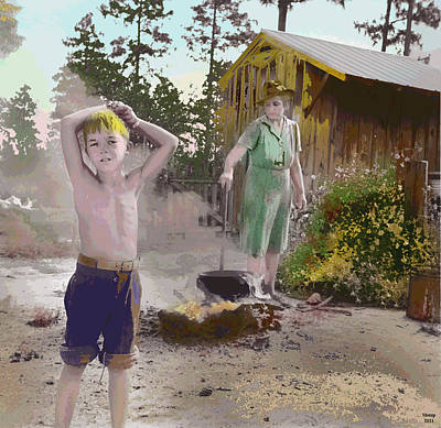 1-charles-shoup.fineartamerica.com Mixed Media - Wash Day by Charles Shoup
