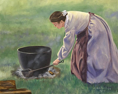 Painting - Wash Day II by Karen Wilson