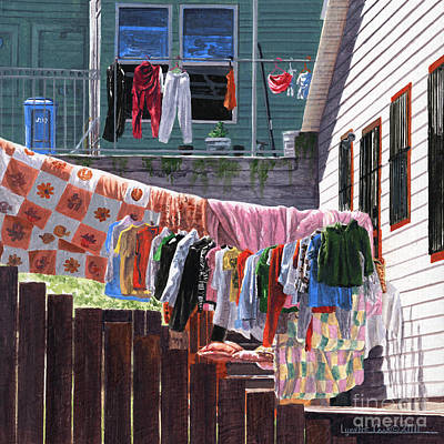 Painting - Wash Day by Lynette Cook