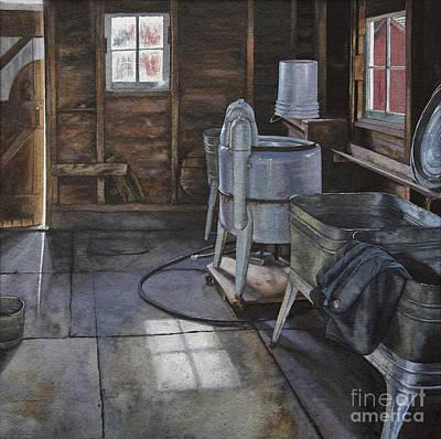 Wash Room Digital Art - Wash-house by Kelly Morrow