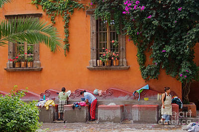 Art Print featuring the photograph Washer Women - Mexico by Craig Lovell