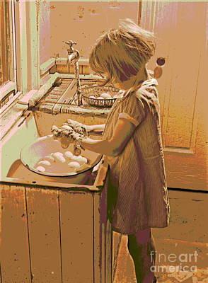 Op Art Photograph - Washing Eggs by Padre Art