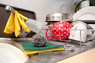 Soap Dish Photograph - Washing Up by Tom Gowanlock