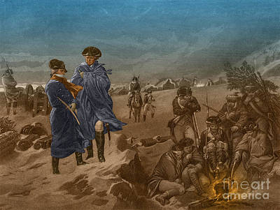 Washington And Lafayette At Valley Forge Art Print