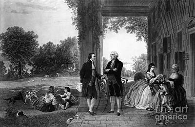 Washington And Lafayette, Mount Vernon Print by Library of Congress