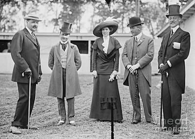 Spats Photograph - Washington Dc Horse Show Spectators 1911 by Padre Art