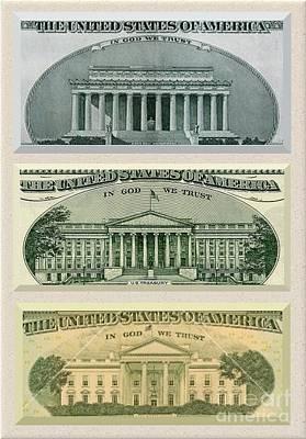 Washington D.c. Landmarks Art Print by Charles Robinson