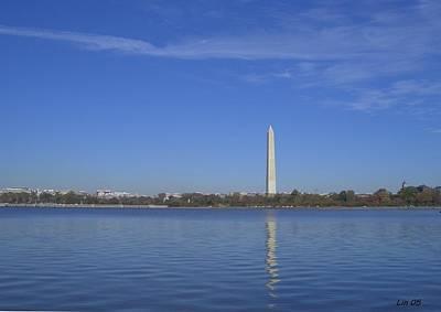 Washington Monument Digital Art - Washington Monument 2 by Lin Grosvenor