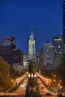 Washington Monument And City Hall Art Print by John Greim