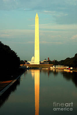 Photograph - Washington Monument At Sunset by Nancy Greenland