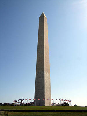 Art Print featuring the photograph Washington Monument by George Bostian