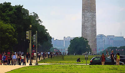 Washington Monument Original by Russ Harris